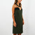 Army Green Strapless Dress (size 40/S)