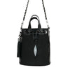 Stingray Black Bucket Bag - Bohology