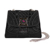 Mini Black Woven Rubber Bag - Bohology