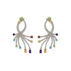 Rhodium Sparks Earrings - Bohology