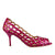 Fuchsia Cutout Open Toe Pumps (EU35)