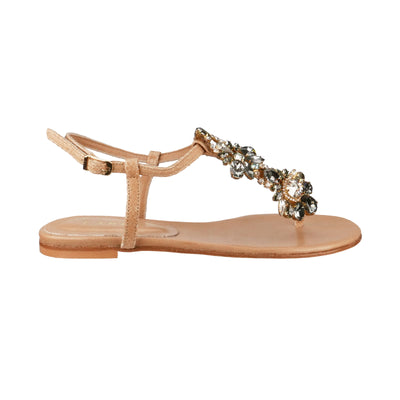 Handmade Swarovski Grey Jewel Sandals - Bohology