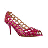 Fuchsia Cutout Open Toe Pumps - Bohology
