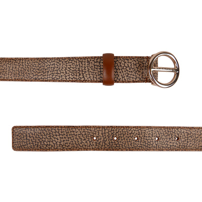 3cm Partridge Eye Printed Belt (105 cm long) - Bohology