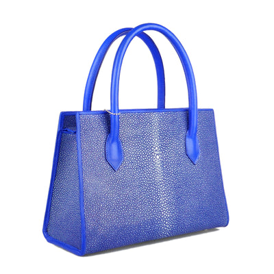 Cobalt Blue Stingray Tote Bag - Bohology