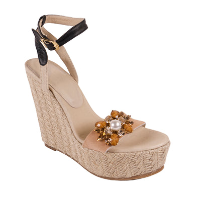 Handmade Nude Jewel Wedges - Bohology