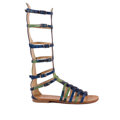 Gladiator Blue Sandals - Bohology