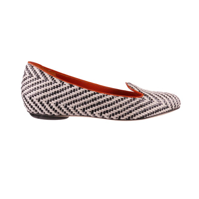 Black And White Handmade Loafers - Bohology