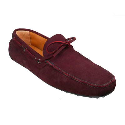 Burgundy Suede Loafers (Size UK11.5/ EU45) - Bohology
