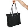 Black Matelasse Chain Bag