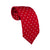Silk Red Tie Polka Dots