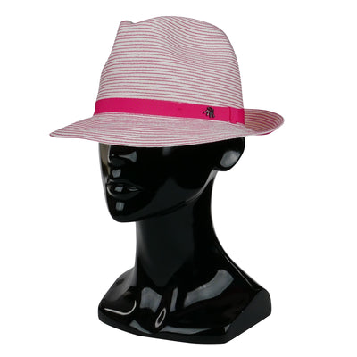 Foldable Pink Striped Hat