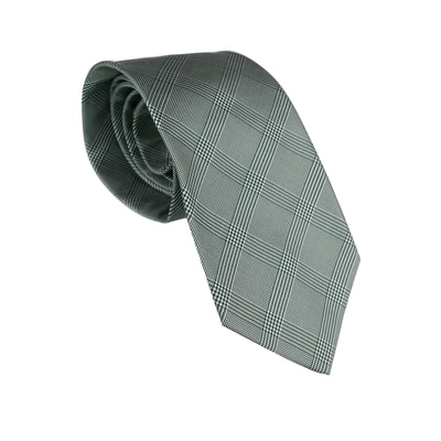Green Glencheck Silk Tie - Bohology