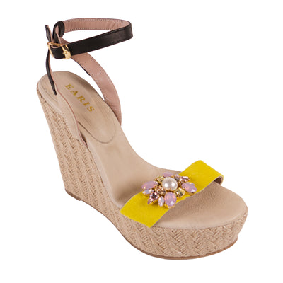 Handmade Yellow Jewel Wedges
