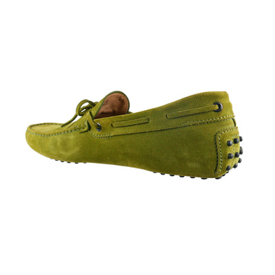 Green Suede Gommino Loafers (size UK 9/ EU 43) - Bohology