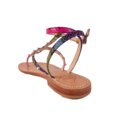Multicolor Sandals With Studs - Bohology