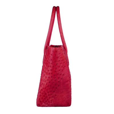 Ruby Red Ostrich Bag - Bohology