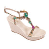 Multicolor Jewel Wedges - Bohology