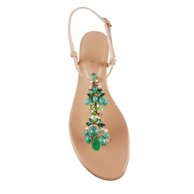Green Jewel 3cm Wedges - Bohology