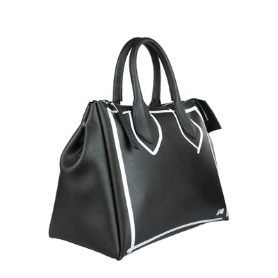Black Painted Rubber bag - Bohology