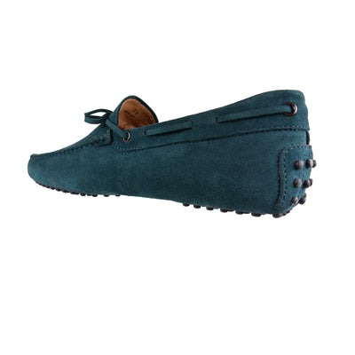 Teal Suede Loafers - Bohology