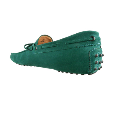 Emerald Suede Loafers - Bohology