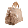 3D Large Beige Woven Rubber Bag - Bohology