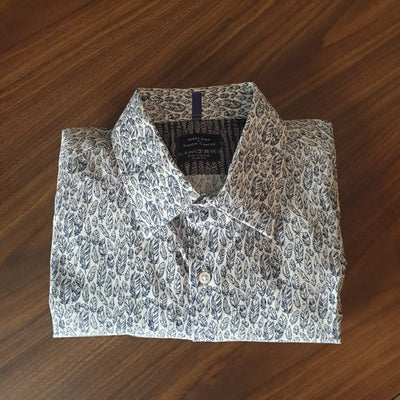 Feathers Printed Shirt (Size 16.5 / 42)