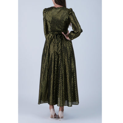 Princess Black Gold Devore' Dress
