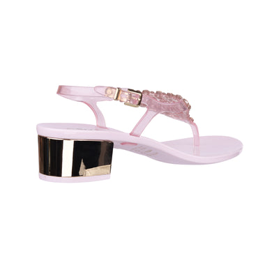 Rose Champagne Swarovski Jelly Heel Sandals