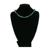Metallic Green Crystals Necklace