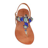 Positano Blue Crystals Sandals (EU38)