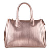Large Rose Gold Fringes Rubber Bag