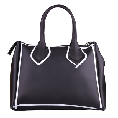 Black 'Painted' Large Rubber Bag