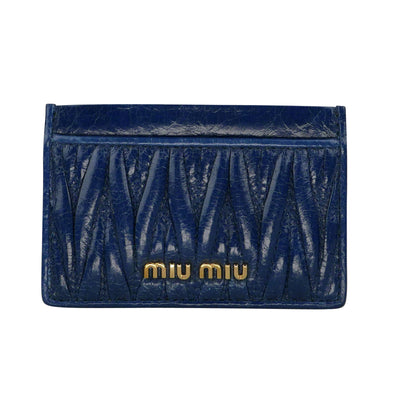 Navy Blue Matelasse Cards Holder