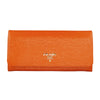 Papaya Wavy Leather large Wallet