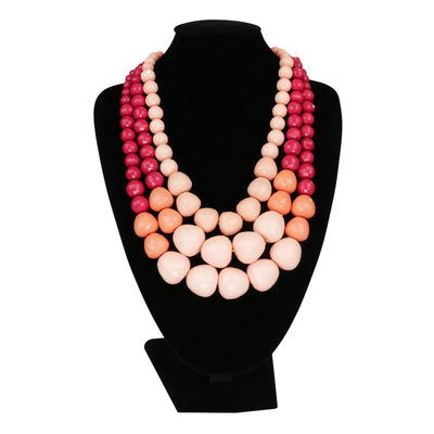'Carmen Miranda' Pink Necklace