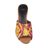 Printed Canvas Wooden High Heel Slippers (EU37)