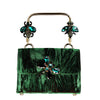 Capri Green Velvet Jewel Insects Handbag