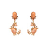 Clip On Capri Transparent Nude Crab Earrings