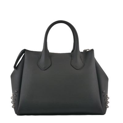 Black Rubber Bag With Dark Studs