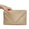 Gold Matte Envelope Clutch