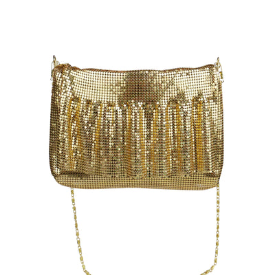 Gold Metal Mesh Soft Bag