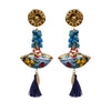Sicily Ceramic Blue Earrings