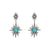 Silver Amazonite Star Earrings