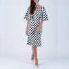 Monica Bellucci Polka Dots Silk Dress (Size EU42)