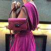 Mini Pink Satin Sling Bag