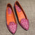 Pink Jacquard Handmade Loafers