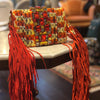 Capri Orange Painted Fringe Bag