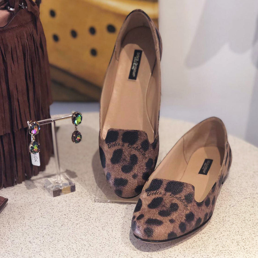 33d8809673 Leopard Printed Loafers (Size EU35.5)